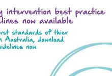 Early intervention best practice guidelines now available