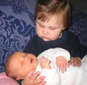 Alex and her baby brother