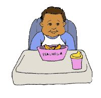 Baby in high chair