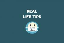 Real Life Tips - Masks at school