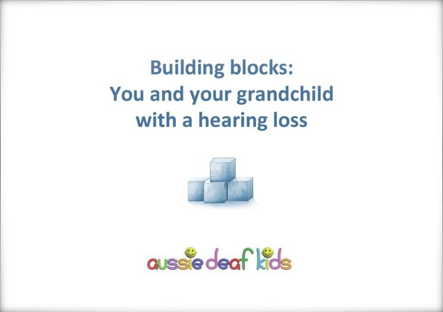 Building blocks for grandparents