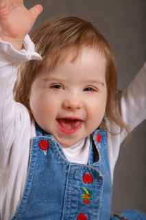 Smiling child with Down Syndrome